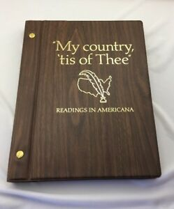 my country tis of thee readings in americana book w box 1975