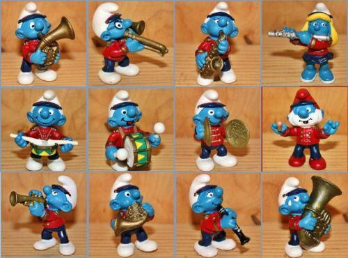 SCHTROUMPF : Figurines de la FANFARE (Smurf Pitufo Pitufo Schlumpfe)