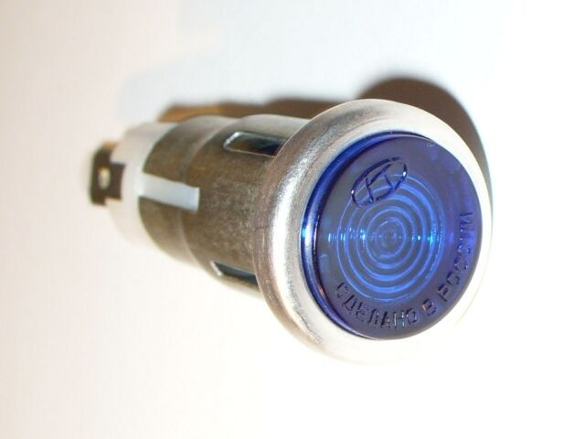 Dnepr Kontrolllampe blau Warning pilot light blue Kontrollleuchte Bombilla NEW