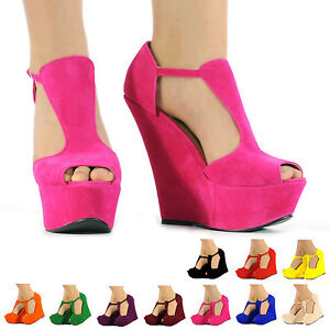 NEW-WOMENS-LADIES-FAUX-SUEDE-PLATFORM-PEEPTOE-HIGH-WEDGE-SHOES-BOOTS-3-4-5-6-7-8