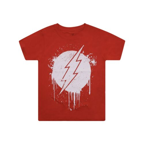 RRP £15 Flash Stencil T-Shirt Red Official DC Comics Kids