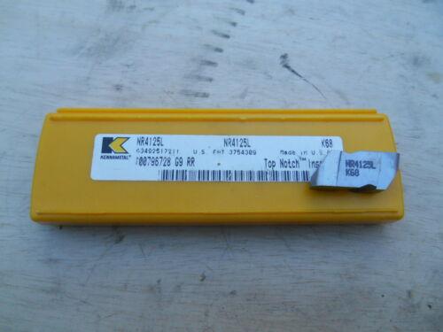 K68 KENNAMETAL CARBIDE INSERTS NR4125L 5 INSERTS