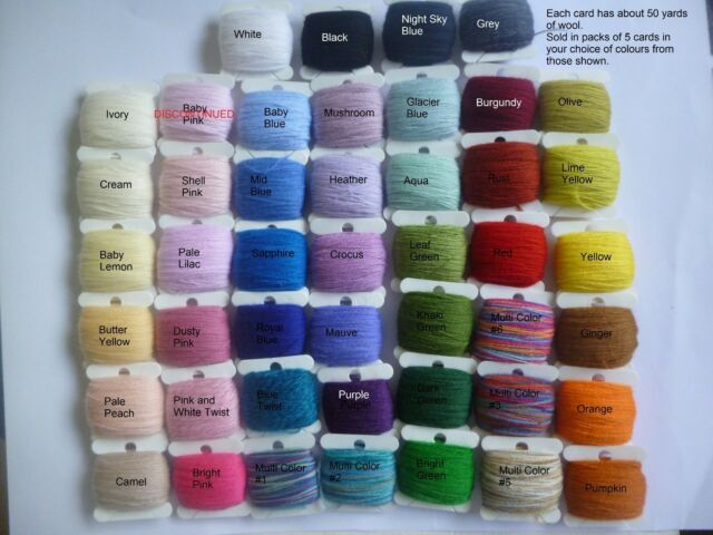 5 cards 50m laceweight merino yarn ideal for doll clothes & miniature knitting