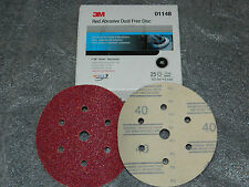 Pack of 6 3M 01148 Hookit Red 6 40D Grit Dust-Free Abrasive Disc