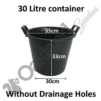 7 x 30 Litre Plant Tree Pot With Handles Heavy Duty 30L Lt Big Large Plastic