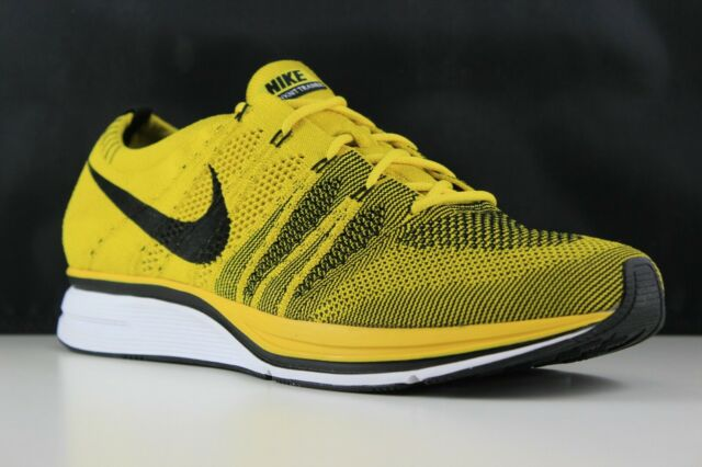 5586ad778f107 Nike Flyknit Trainer Bright Citron Yellow Black White Sz 12 Ah8396 ...