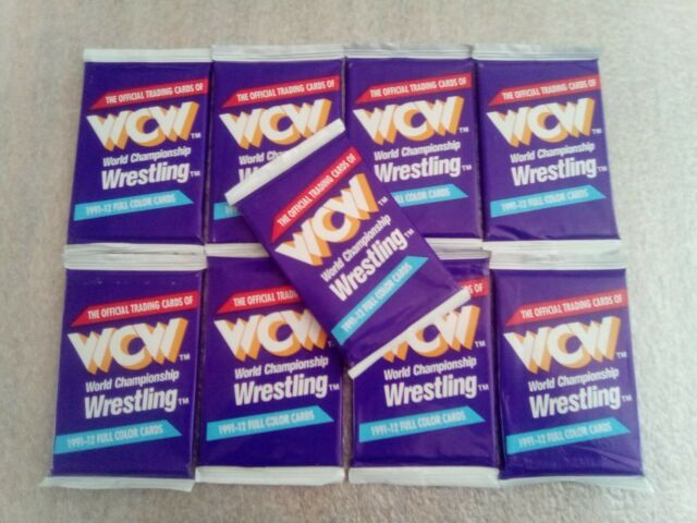 1991 WCW Wrestling Card Lot of (9) 12 Card Packs Sealed