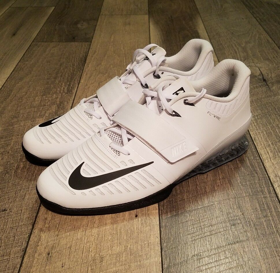 Nike Romaleos Romaleos Nike 3 Weightlifting Crossfit Trainers Size 14 White Black 852933-100 1d9a69