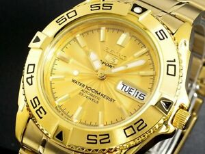 MADE-in-JAPAN-SEIKO-5-SNZB26J1-Automatic-100m-GOLD-Original-Box-amp-Manual