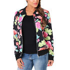 Women Bomber Jacket Zipper Casual Long Sleeve Biker Baseball Coat Autumn Outwear