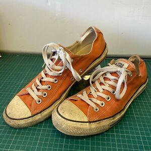 Orange-Converse-All-Stars-Distressed-Battered-Delightfully-Knackered-Men-039-s-UK-10