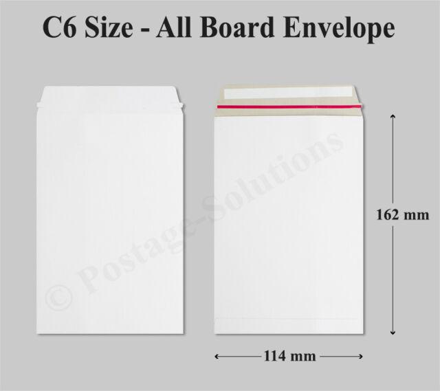 200 x A4//C4 White All Board Calendar Card Envelopes Peel /& Seal 324mm x 229mm