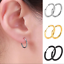 3Pairs-set-925-Sterling-Silver-Hinged-Small-Hoop-Circle-Ring-Earrings-Women-Men thumbnail 2