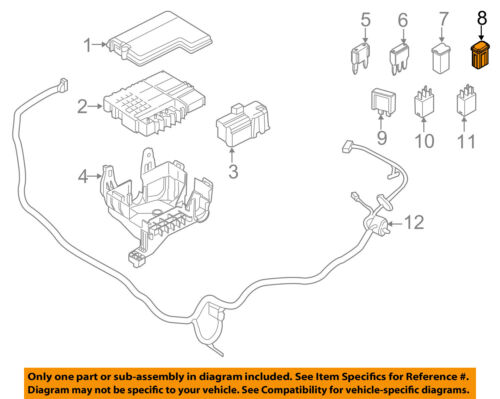 FORD OEM Fuse Relay-Maxi Fuse DG9Z14526EA