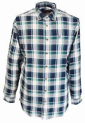 Farah White//Burgundy Checked Long Sleeved Cotton Retro Mod Button Down Shirts