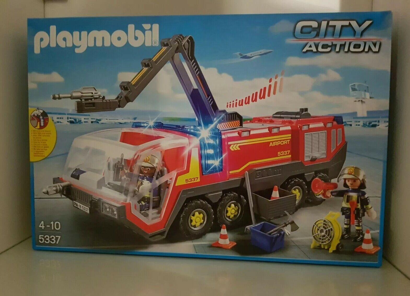 PLAYMOBIL City Action - 5337-aéroport pompier avec la lumière et  Sound-Neuf  qualité authentique
