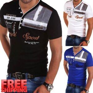 Camisa de Moda para Hombre Camiseta Informal Mangas Cortas de verano elegante