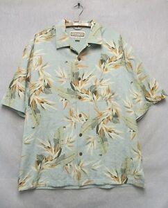 W4725-Med-Men-039-s-Jamaica-Jaxx-Blue-Floral-Short-Sleeve-Button-Down-Hawaiian-Shirt