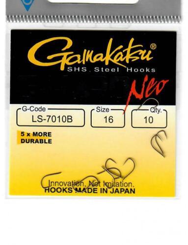 Gamakatsu G Hard Neo Spade Barbless Hooks ALL SIZES