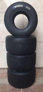 Evinco MG Blue, SKUSA, 10 X 4.60-5 Set of 4 Tires- CRG,Tony Kart, Birell Art