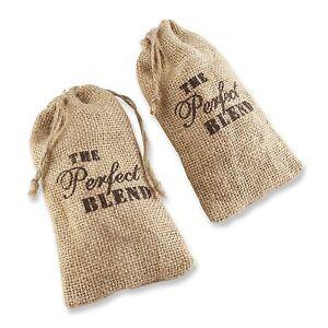 48 The Perfect Blend Burlap Bag Wedding Favor Coffee Bags Bridal