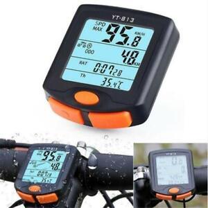 Waterproof-Cycling-Bike-Bicycle-Wired-Cycle-Computer-Odometer-Speedometer-Y-813