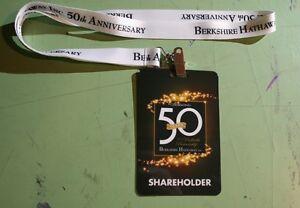 2015 BERKSHIRE HATHAWAY SHAREHOLDERS MEETING ADMISSION CREDENTIAL warren buffett