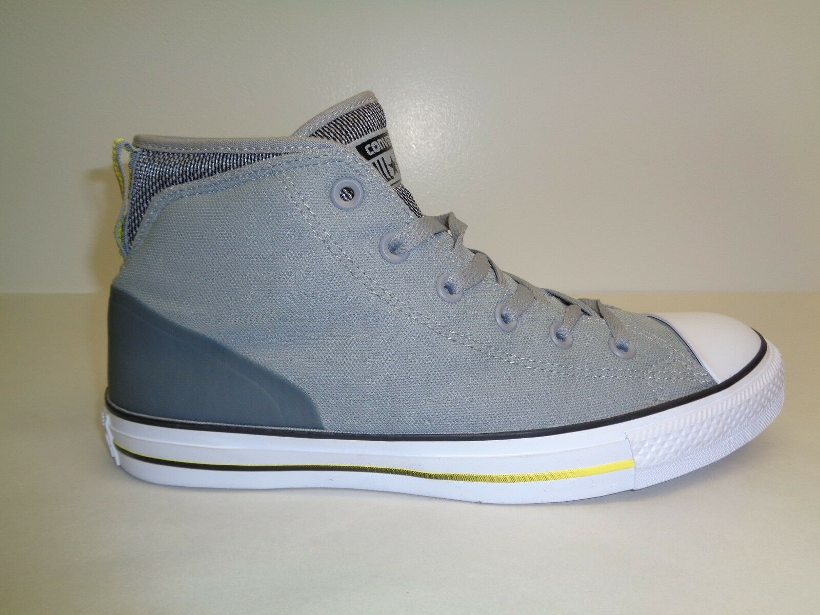 Converse Size 9 M CHUCK TAYLOR SYDE STREET MID Grey Sneakers New Mens Shoes