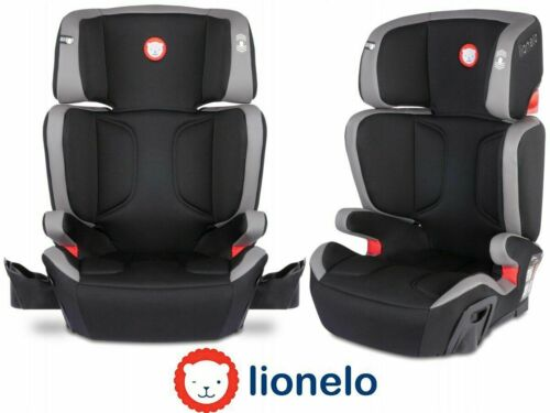 BABY CAR SEAT ISOFIX SUPPORT KIDS CHILD HUGO LIONELO 15-36 KG LEATHER GREY//BLACK