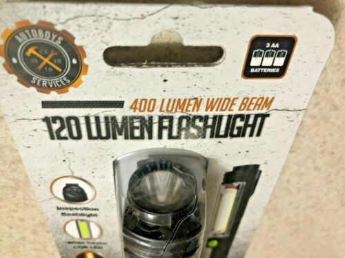 Details about  /AUTOBOYS SERVICES Flashlight 120 Lumens 400 Lumen Wide Beam Mag Base With Clip.