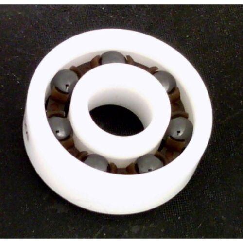 Nylon Cage 8x 16 Full Ceramic 608 inline//Rollerblade//Skate Bearing Si3N4 Balls