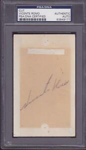 Vicente Romo Signed 3x5 Index Card Autographed 1968 Dodgers Mexican HOF PSA DNA