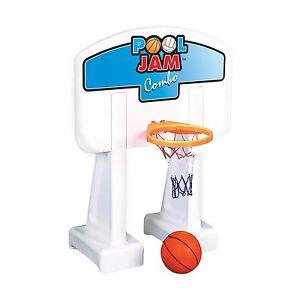 Image Is Loading Pool Basketball Hoop Volleyball Combo Fun Net