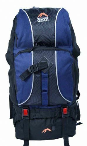Navy Outdoor Camping Climbing Hiking Backpack Daypack Strong Rucksack Bag 60L