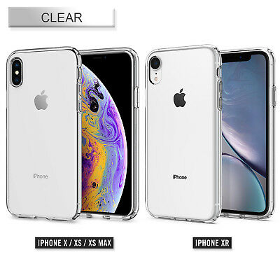 iPhone XS Max XR XS Case Genuine SPIGEN Liquid Crystal Slim Soft Cover for Apple
