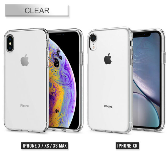 best service 9d077 85fdd Spigen 063CS25110 Liquid Crystal Case for iPhone XS - Clear