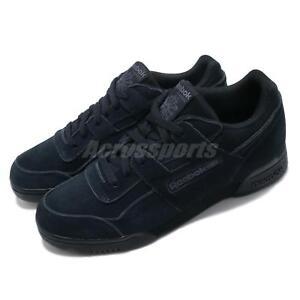 652ab9db2d4 Reebok Workout Plus MU 3M Reflective Black Men Classic Casual Shoes ...