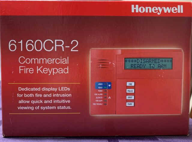 Honeywell 6160cr-2 Commercial Fire Keypad 12vdc Red*
