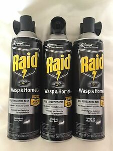 3-Raid-Wasp-amp-Hornet-Yellow-Jackets-Large-Spray-Aerosol-14oz-Kills-Entire-Nest