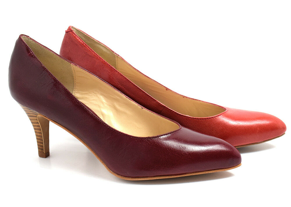 Noe Womens Medium Mid Heel Leather Pumps Court shoes