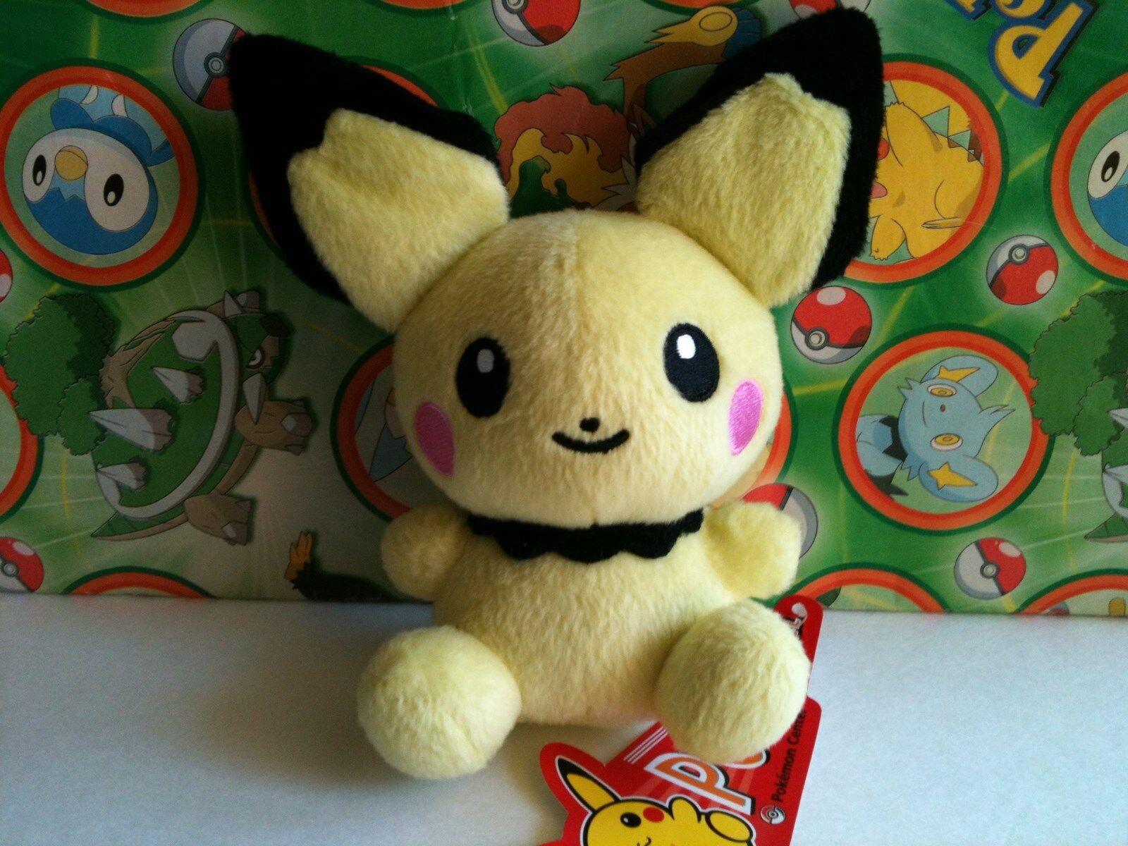 Pokemon Center Plush Pichu Pokedoll 2007 Stuffed Doll figure Legit New US Seller