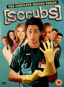 Scrubs-Series-2-Complete-DVD-2005-4-Disc-Set-Like-New