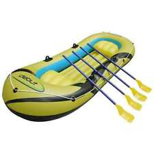 Debut Sports 3-4 Person Inflatable Dinghy Boat Complete With Oars BNIB