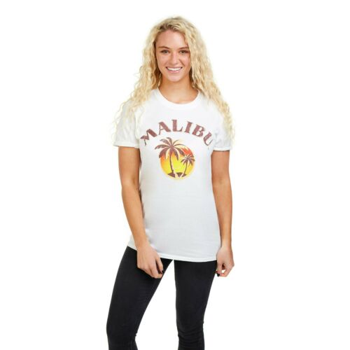 Womens Graphic Malibu T-Shirt Sizes S,M,L,XL Logo