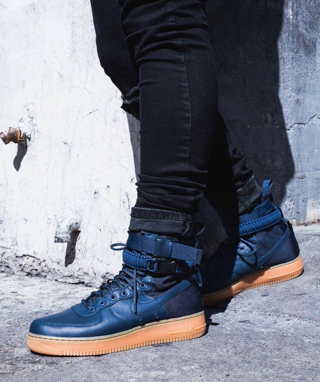 Nike SF Air 1 Hi GIOCO Force Royal blu Suede Uomo Scarpe da Ginnastica Stivali 864024