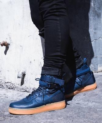 Nike SF Air Force 1 Hi Game Royal blau Wildleder Herren Turnschuhe Stiefel 864024 UK 7 | eBay