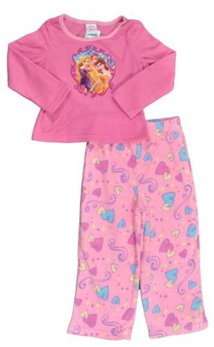 Disney Princess Toddler Girls Pink 2pc Micro Fleece Pajama pant Set Size 5T