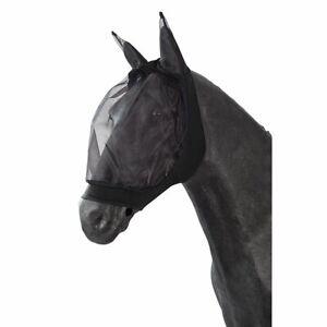 Fliegenhaube aus Nylon Großpferd 5 Stück schwarz