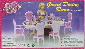 Details about My Fancy Life Barbie Size Dollhouse Furniture Grand Dining  Room Play Set