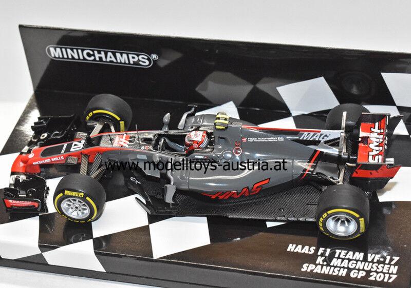 Haas F1 VF-17 Ferrari 2017 Kevin MAGNUSSEN Spanien GP 1 43 Minichamps